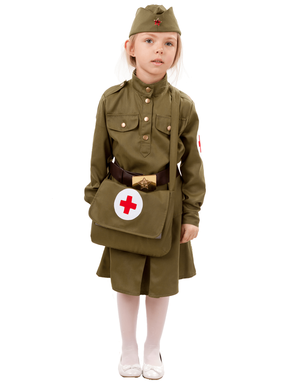 Soviet Uniform stage costume for girls ''Military nurse''