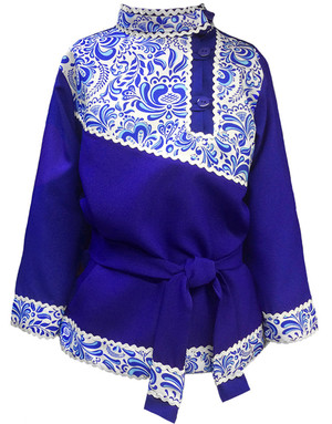 Traditional cotton Russian shirt ''Gzel''