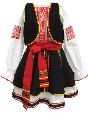 Moldova Romanian costume for girls