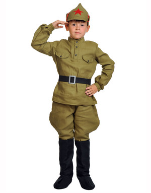 Red Army Uniform stage costume for boys ''Red army man''