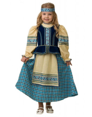 Folk Art Costume for girls ''Slavic''