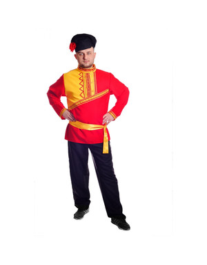 Russian Cossack Costume Red