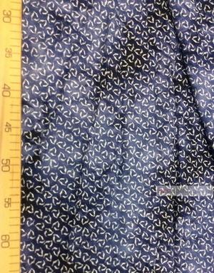 Tissu Viscose au metre ''Triangle On A Boiled Dark Blue Background''}