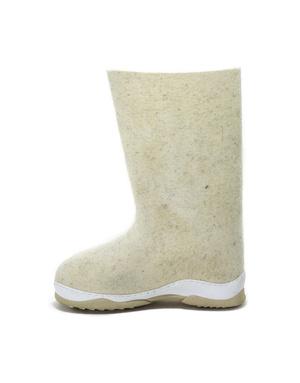 Russian valenki White felt boots