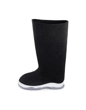 Russian valenki Black felt boots