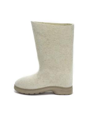 Russian Felt Boots Valenki White (Men size)
