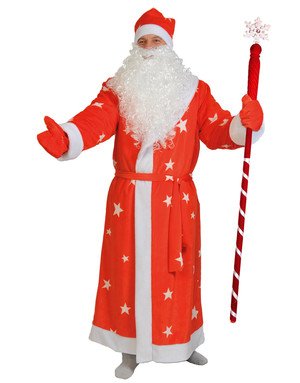 Ded Moroz costume Red