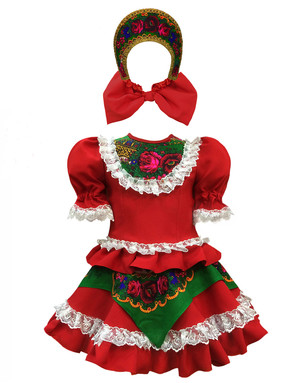 Russian ballet dance dress ''Quadrille'' with Kokohnik