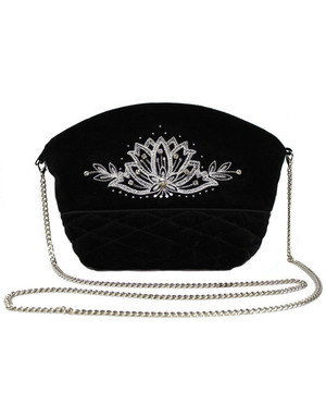 Pochette Noire Brodé d'or ''Enchantress''}