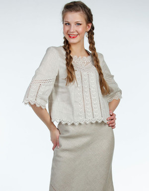 Linen blouse ''Traditions''