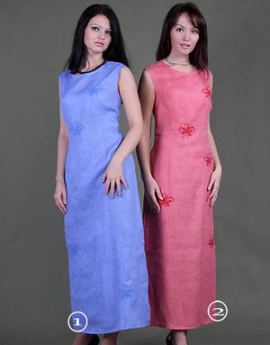 Pink Linen dress ''Vita''