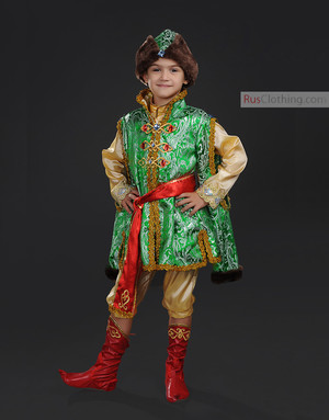 Russian Boy Khokhloma Costume