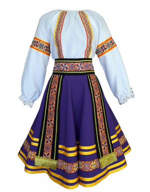 Moldava Romanian costume for girls