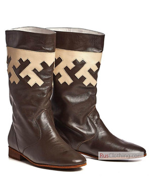 Leather boots from north