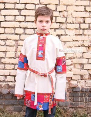 Chemise russe enfant