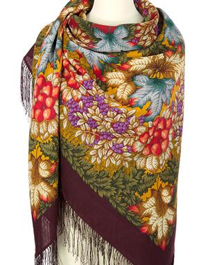 Wool shawl ''Indian Summer Day''