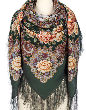 Wool shawl ''Siberian Beauty''