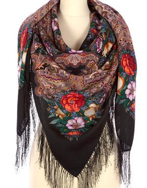 Wool shawl ''Summer Miracle''