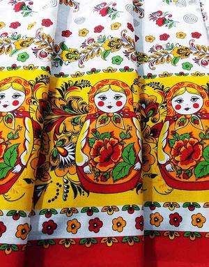 Russian textile matreshka