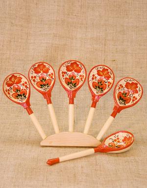 Lozhka spoon music instrument