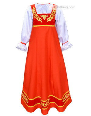 Tsarevna marine blue russian dress