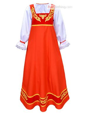 Tsarevna marine blue russian dress