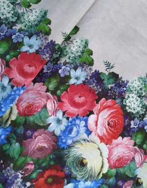 Russian print Zhostovo Flowers