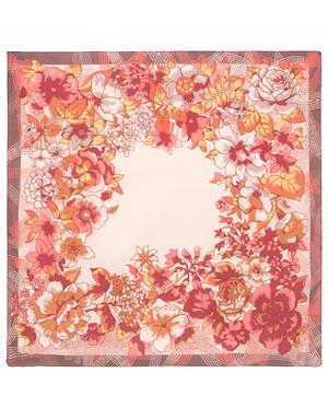 Cotton head scarf  ''Valtz of flowers''