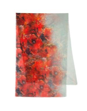 Shawl Wrap ''Poppies paradise''