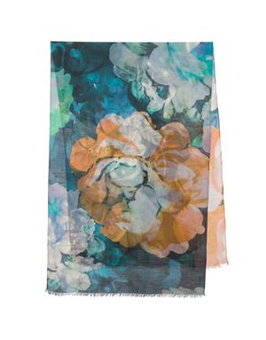 Shawl Wrap ''Vrubel's blue rose''