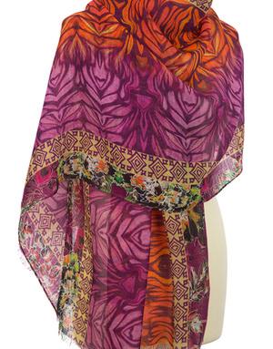Shawl Wrap ''Floral ornaments''