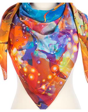 Cotton shawl  ''Firebird dance''