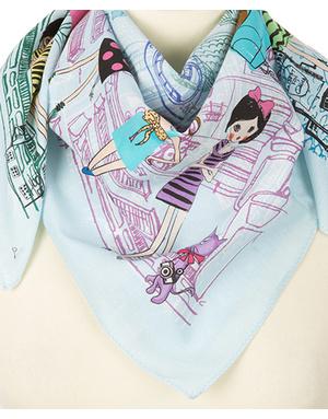 Cotton head scarf  ''Urbanist''