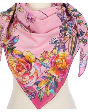 Cotton shawl  ''Floral sunset''