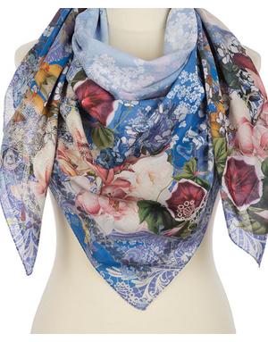 Cotton shawl  ''Floral drops''