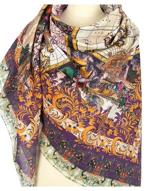 Cotton shawl ''World Map''