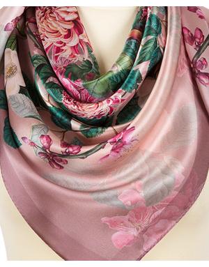Silk shawl ''Floral bouquet''
