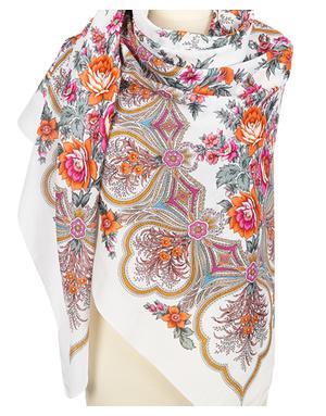 Cotton shawl ''April''