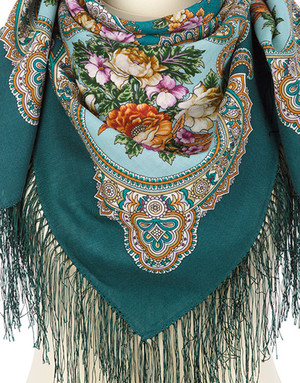 Wool shawl ''Summer rendez-vous''
