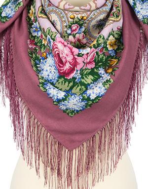 Wool shawl ''Family hearth''