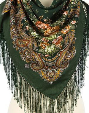 Wool shawl ''Sweet meadow''