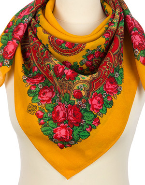 Wool shawl ''Sunny morning''