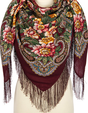 Wool shawl ''Brooks Place''
