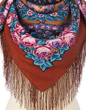 Wool shawl ''Tender Night''