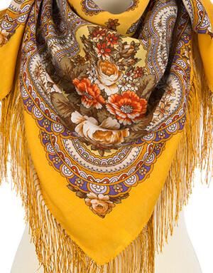 Wool shawl ''Memory wings''