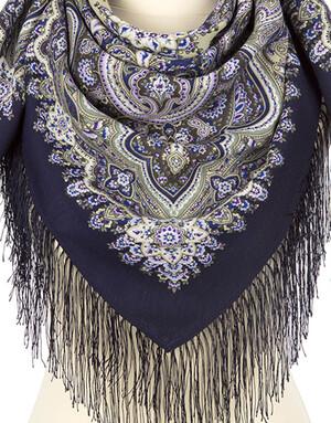 Wool shawl ''Rosemary''