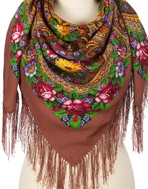 Wool shawl ''Golden seine''