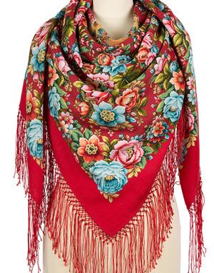 Wool shawl ''Nightingales nights''