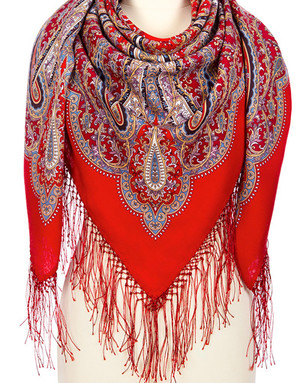 Wool shawl ''Queen of the seas''