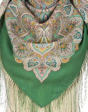 Wool shawl ''Little Nightingale''